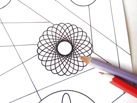 Pagine Da Colorare Per Adulti Libro Modello Astratto: Geometrico Astratto Pagina Da Colorare Adulti Di