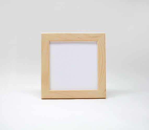 6x6x1 unfinished wood picture frame w glass backing 6x6