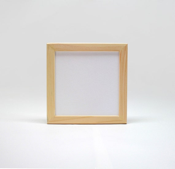 8x8x1 unfinished wood frames with glass by