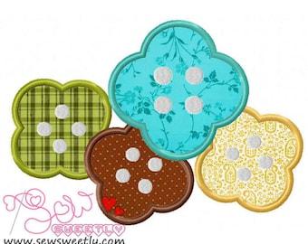 Buttons-1 Applique Design.