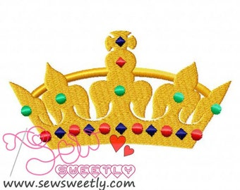 Crown-2 Embroidery Design.