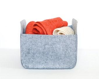 Modern Storage Basket / Felt Storage Bin  / Felt Basket / Gray Storage / Household Storage / Felt box