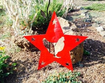 Chicken Star Metal Sign