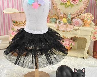 Blythe/Pullip Tulle Cake Mini Skirt (3 Layers)