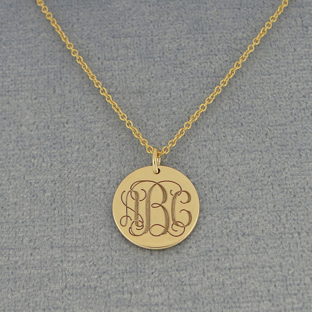 3 initial monogram tiny round disc charm pendant necklace deep gallery photo gallery photo gallery photo gallery photo gallery photo mozeypictures Image collections