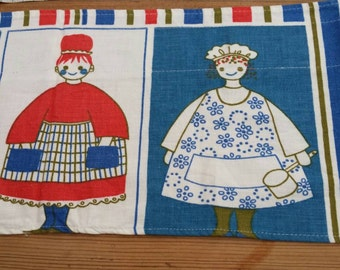 "A valance made in Swedish  90 cm x 19 cm ""10 x 11"""