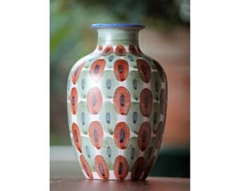 Unique vase by Rigmor Nielsen for Soholm Denmark. Mid Century