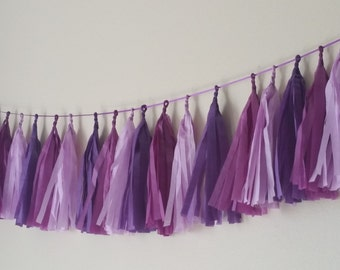 Sugar Plum Tissue Tassel Garland