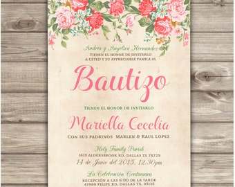 Brothers spanish printable baptism invitations espanol gender spanish printable baptism christening invitations roses floral bautizo pink girl bautizo burlap baptism presentacin girl printable stopboris Gallery