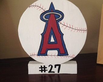 Angels Baseball Wooden