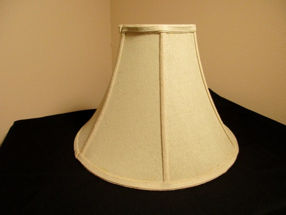 beige linen lamp shade bell shaped lampshade inside lined shade. Black Bedroom Furniture Sets. Home Design Ideas
