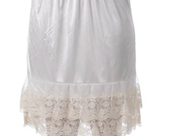Lace Slip Extender for Skirts - Ivory