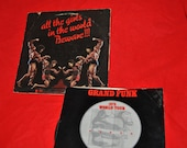 GRAND FUNK All The Girls in the World Beware 1975 Tour LP   33 1/3 Lp vinyl record