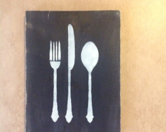 Distressed rustic kitchen wall hanging Sale only 12.00 Only 1 left!