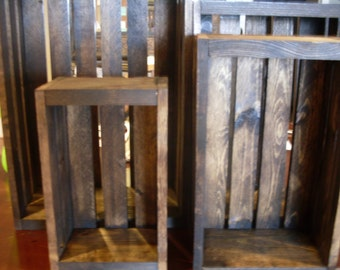 Set of 4 Dark walnut   wood crates