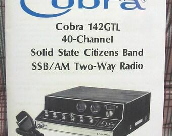 Cobra 142GTL 40 channel AM/SSB CB Radio Owners Manual & Schematics