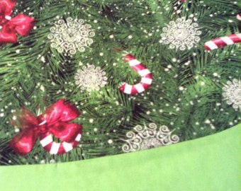 Christmas candy cane tree skirt