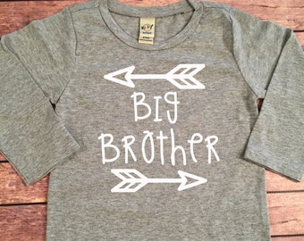 Big Brother Long Sleeve Shirt Little Brother Shirt Personalized Shirt Sibling Shirts Brother Shirt Pregnancy Announcement Shirt Baby