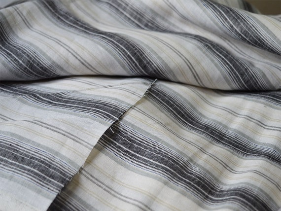 Extra Wide Strips Blended Linen Fabric By The Yard Pure