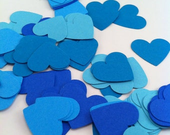 100 Heart Confetti - Diy Garland - Die Cuts - Party Supplies - Table Decorations