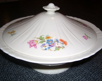 Syracuse China Covered Serving Dish Covered Casserole Vintage