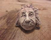 Albert Einstein clay magnet