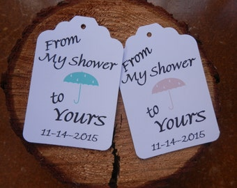 From My Shower to Yours  Thank You tags Personalized Shower Tags
