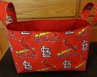 Fabric Basket- Cardinals Basket-  St. Louis Cardinals Basket