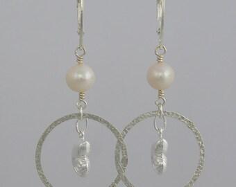 Sterling Silver Shell Dangling Earrings