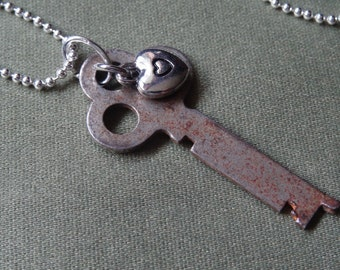 Vintage key pendant (marked National Lock Co.)