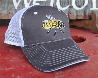 Honey Bee Vented Baseball Cap, Perfect Valentines and birthday gifts, cool gift for beekeepers,