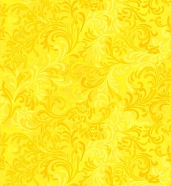 108 Quot Yellow Flourish Essential Fabric Backing Fabric