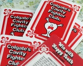 TWO Playing Cards, Colgate's Win With Happy Tooth, Card Game and Cards to Color #367 ok