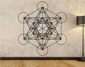 Metatrons Cube Wall Decal Sticker Art Decor Bedroom Design Mural  Buddha sacred geometry geometric