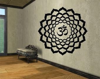 Mandala Om Vinyl Wall Decal Sticker Art Decor Bedroom Design Mural