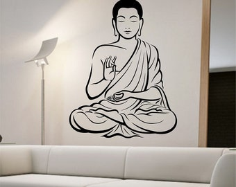 buddha wall decal vinyl sticker art decor bedroom design mural interior design god asian yoga namaste - Design Wall Decal