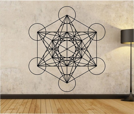 Metatrons Cube Wall Decal Sticker Art Decor Bedroom Design