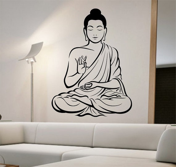 Buddha Wall Decal Vinyl Sticker Art Decor Bedroom Design Mural