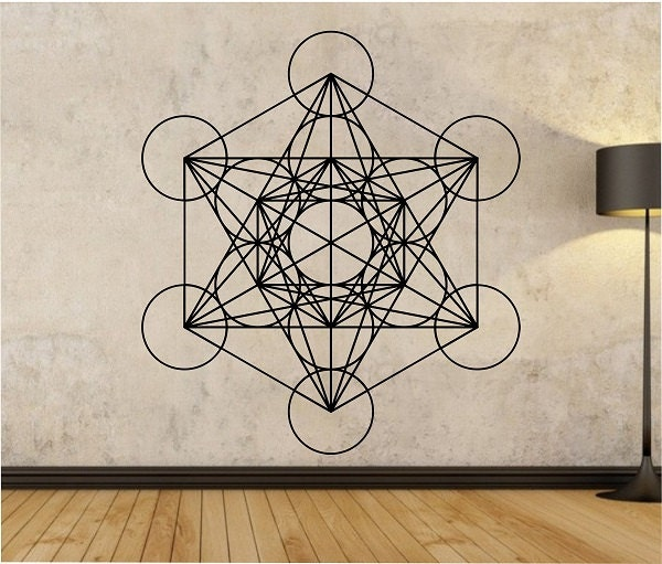 metatrons cube wall decal sticker art decor bedroom design. Black Bedroom Furniture Sets. Home Design Ideas