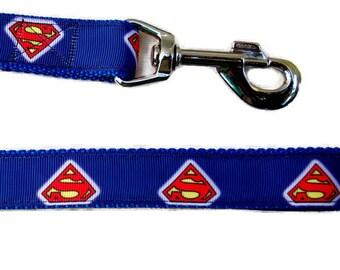 Super Dog Leash. Super Heroes Leash. Navy Leash. Fun dog Leash. Personalized Dog Leash.
