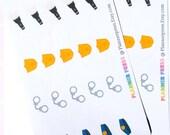 Police Schedule Planner Sticker for Erin Condren Life Planner (ECLP) Reminder Sticker 1520