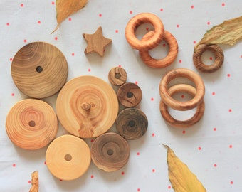 Montessori Toddler Toy/ Wooden Stacking Toy/ Wooden Toy/ Ring Stacker/ Organic Toy/ Educational Toy/ Waldorf toy