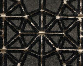 POLLACK CROSSCUT Plush Cut Velvet UPHOLSTERY Fabric 5 Yards Ash
