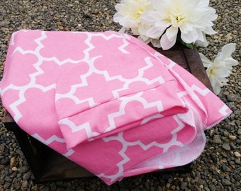 Moraccan swaddle Blanket,swaddle blanket, baby blanket, blanket, baby gift, pink moraccan blanket,knit blanket, blanket and hat, moraccan