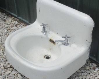 Cast Iron Bathroom Sinks cast iron sink | etsy