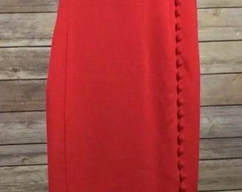 Vintage Jessica Howard Red  Sweetheart Dress 6