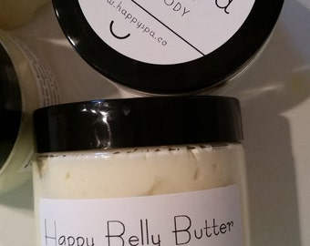 Whipped Belly Butter - Belly Cream, Pregnancy Butter, Pregnancy Cream, Stretch Mark Cream, Whipped Happy Belly Butter, 4 oz