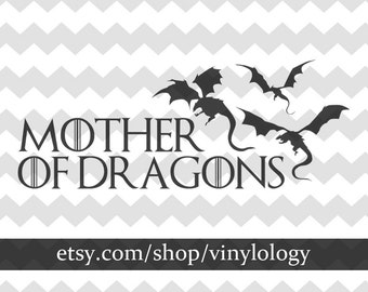 Mother of Dragons Vinyl Decal, Game of Thrones Car Decal, Targaryen Sticker, Laptop Stickers, Dragon Decor, Dragon Decal, Dragon Sticker