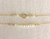 Freshwater Pearl Bracelet, Bridesmaid Bracelet, Pearl Bracelet, Delicate Bracelet, Flower Girl Bracelet, Minimalist Bracelet, StampedEve