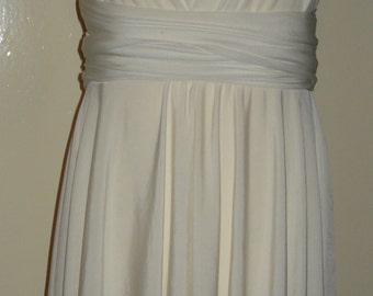 Ivory White Flower Girl Bridesmaid Dress Infinity Dress Convertible dress bridesmaid flower girl dress girl infinity dress Age 6/13  wedding